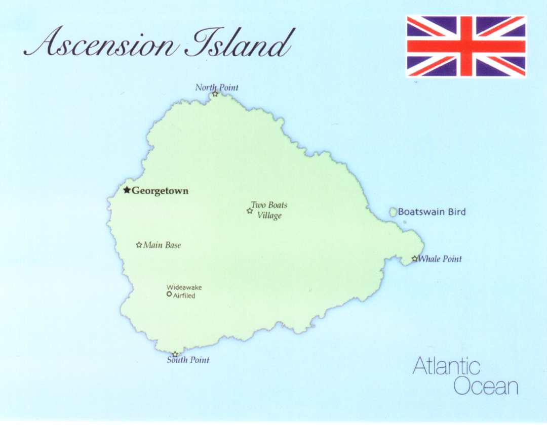 Map of Ascension Island (UK)