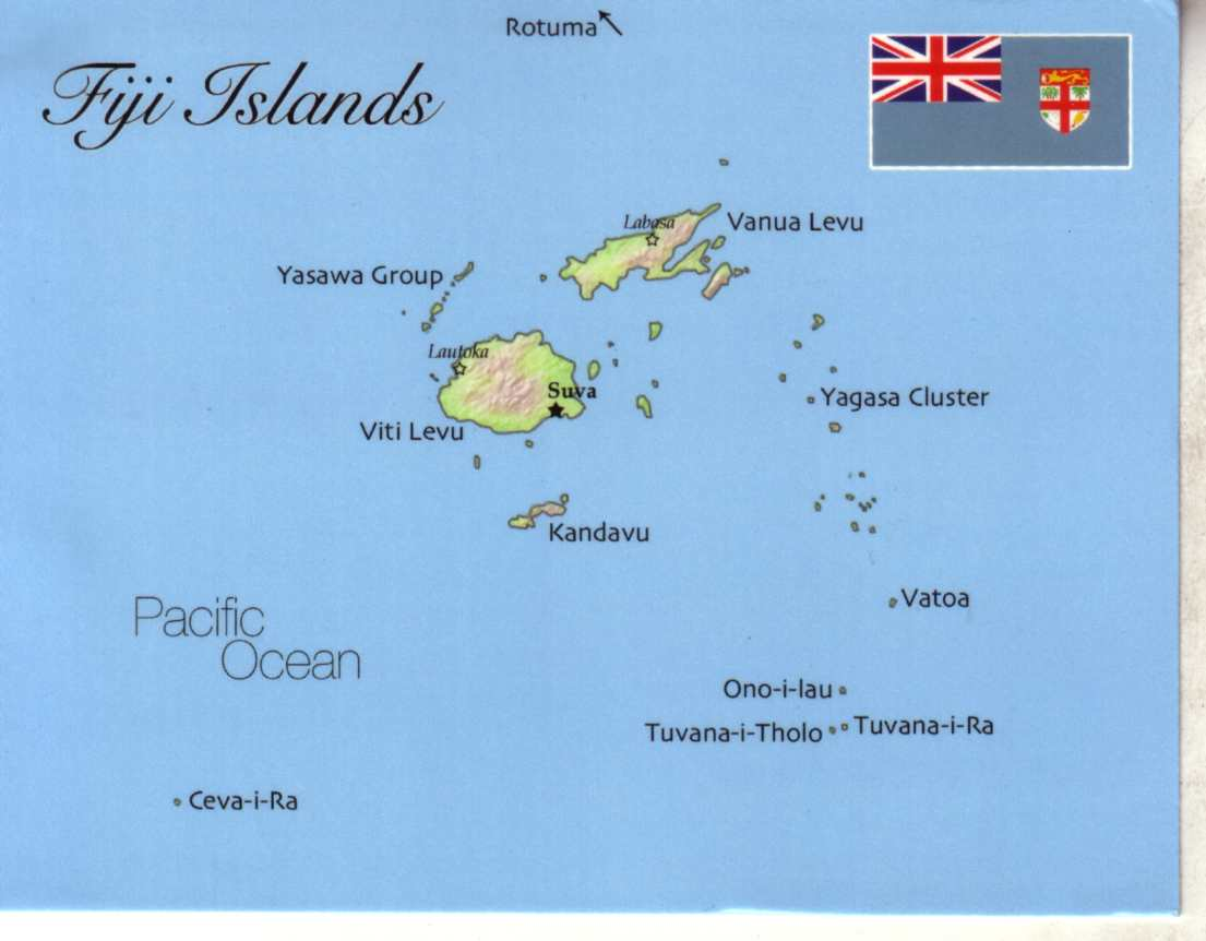 map of fiji islands. map of fiji islands mapf    postcard interactive