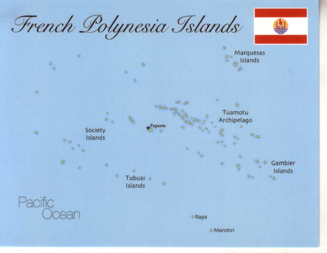 map of french polynesia (france). map of french polynesia (france) mapf    postcard