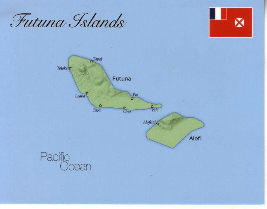 Map of Futuna Islands (France)