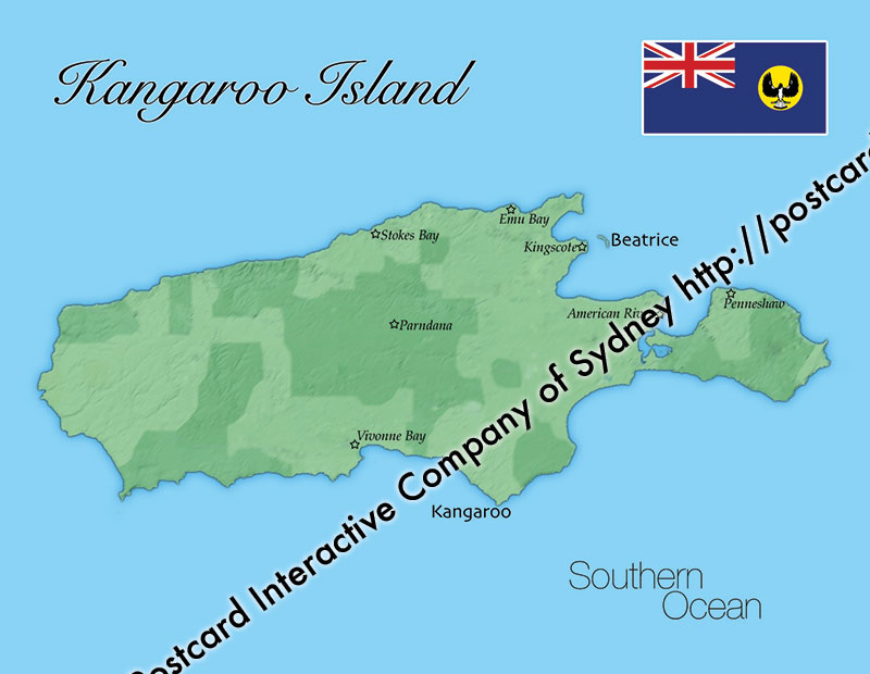 Map of Kangaroo Island (South Australia)