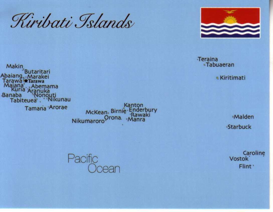 Map of Kiribati Islands