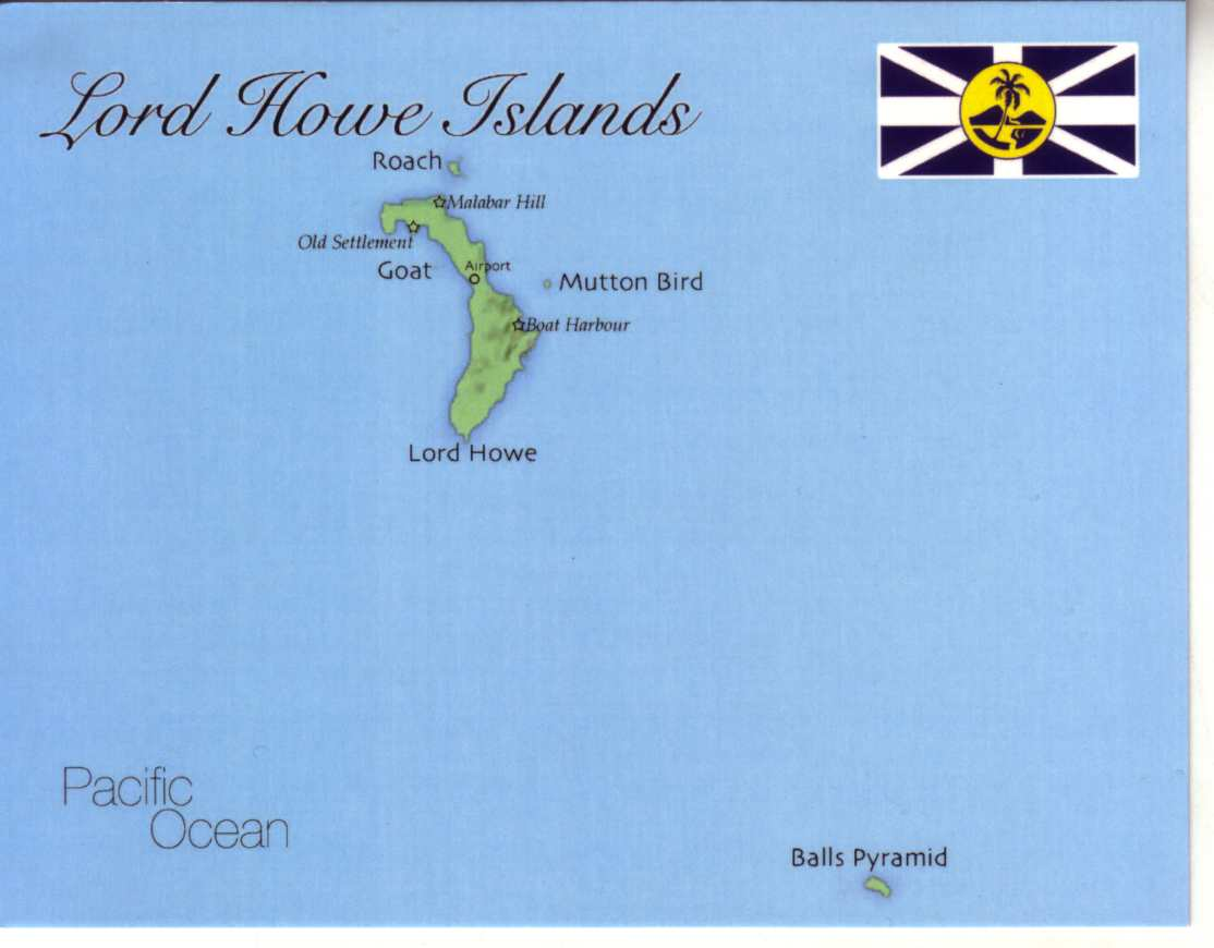 Map of Lord Howe Islands