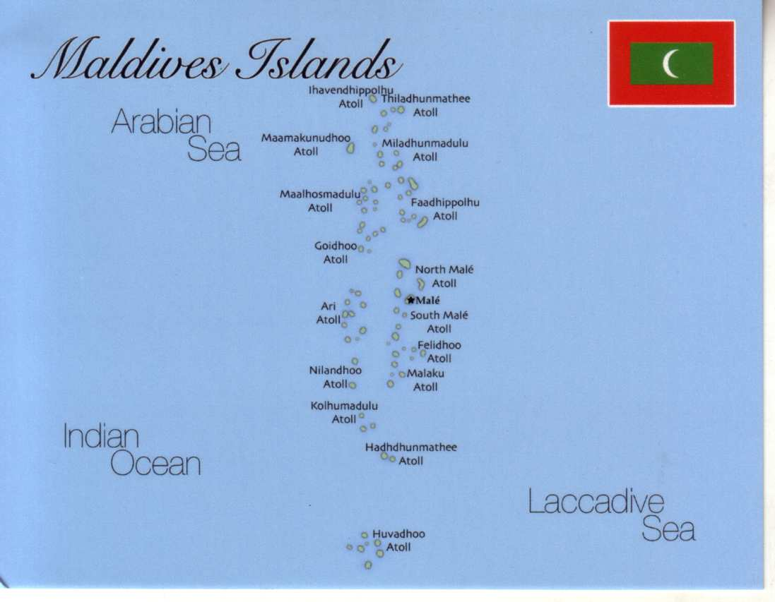 Map of Maldives Islands