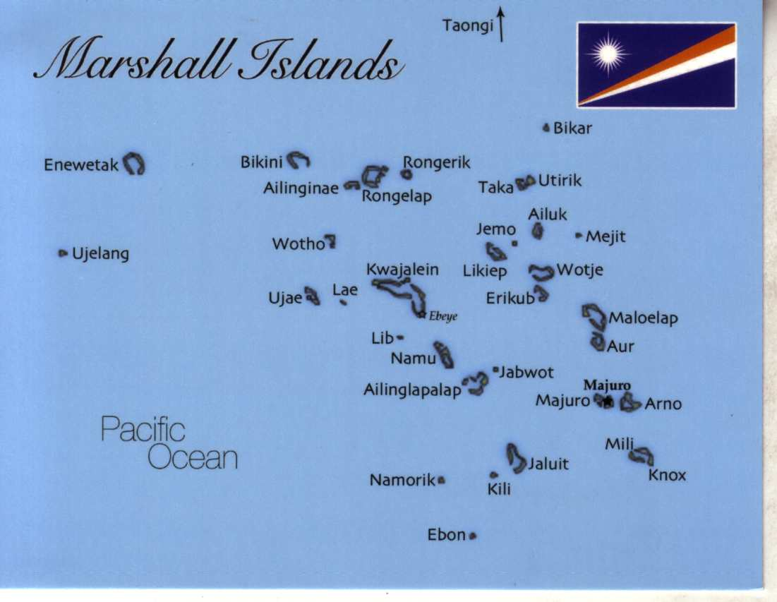 Map Of Marshall Island MapM Postcard Interactive - Marshall islands map