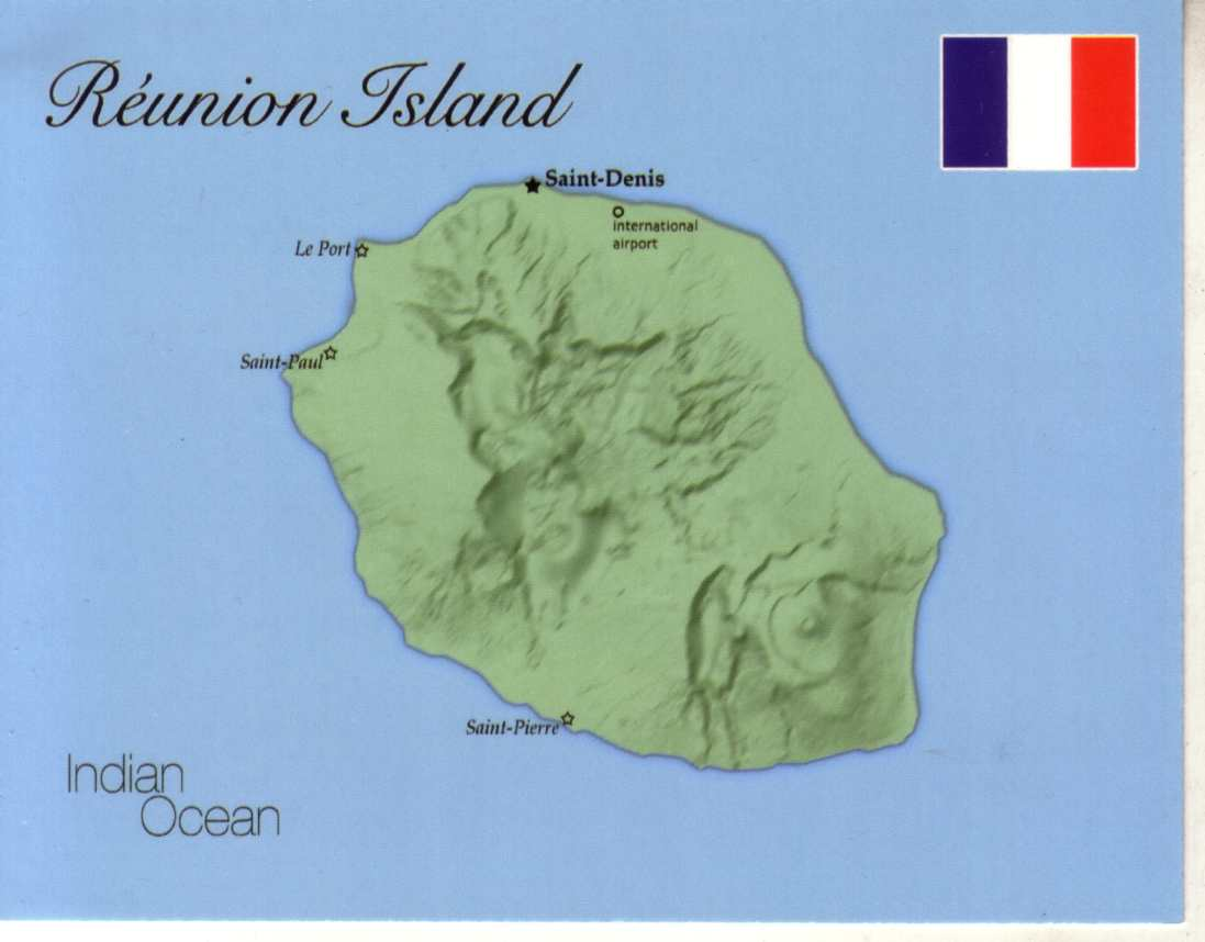Map of R�union Island (France)
