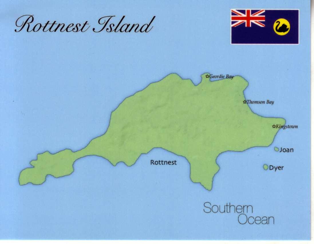 Map of Rottnest Island Western Australia mapR01 100