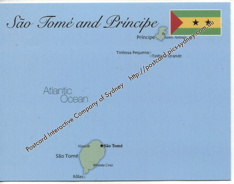 Map of Sao Tom� and Principe