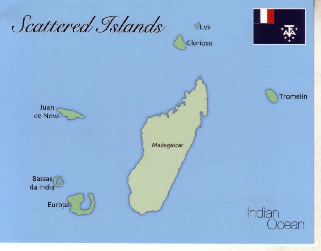 Map of Scattered Islands (Ile Eparses) France