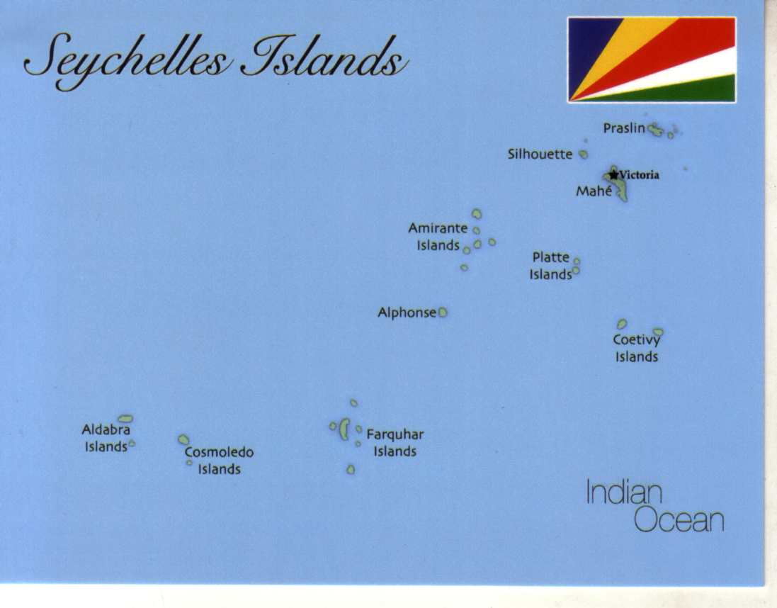 Map Of Seychelles MapS Postcard Interactive - Seychelles interactive map