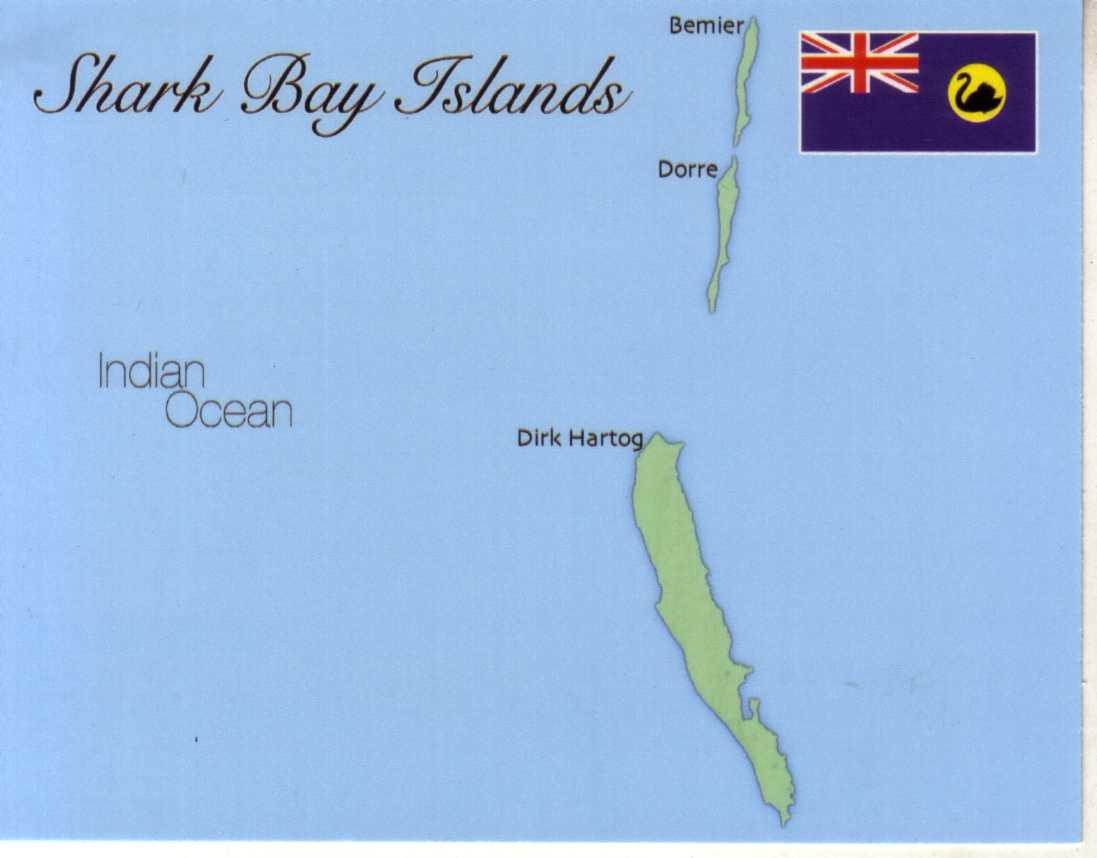 Shark Bay Map Map of Shark Bay Islands