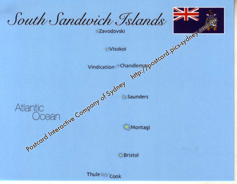Map of South Sandwich Islands (U-K)