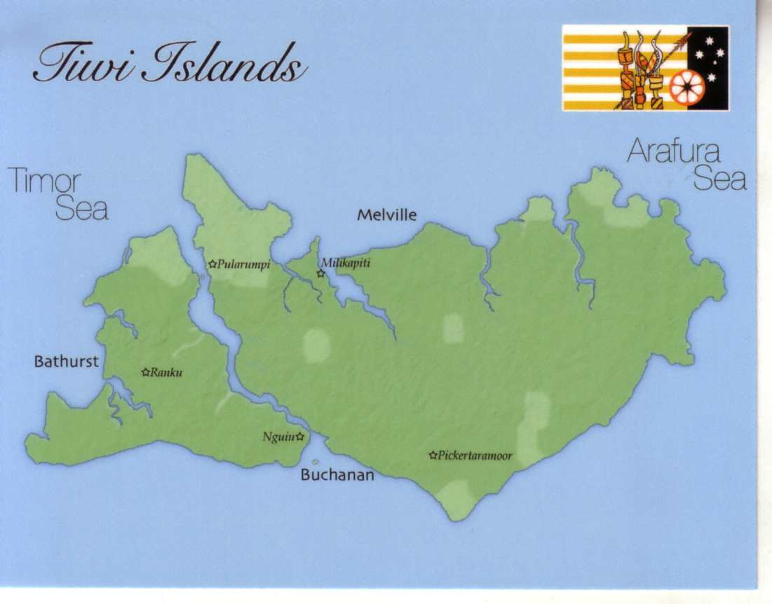 Map of Tiwi Islands (Northern Territory)