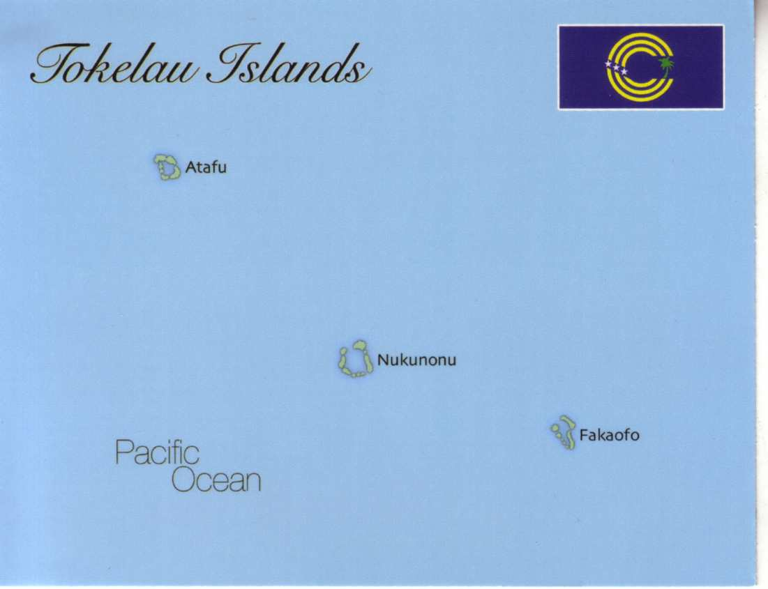 Map Of Tokelau Islands Postcard Interactive - Tokelau map