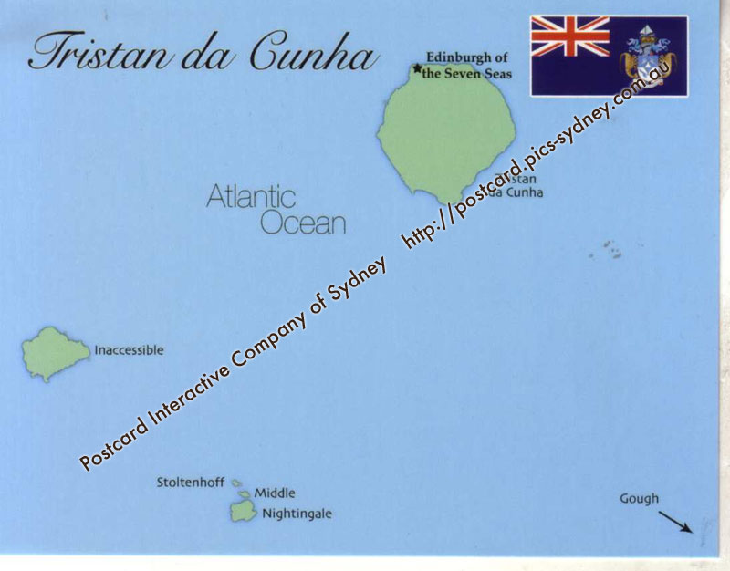Map Of Tristan Da Cunha Uk Mapt02 100 Postcard Interactive: Tristan Da Cunha Map At Slyspyder.com