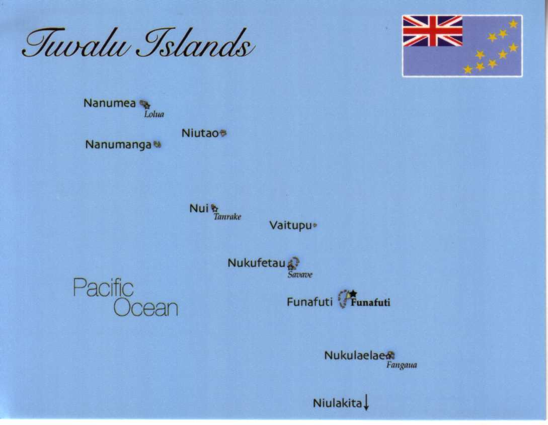 physical map of tuvalu choice image