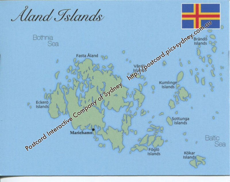 Map Of Aland Islands MapA Postcard Interactive - Aland islands political map
