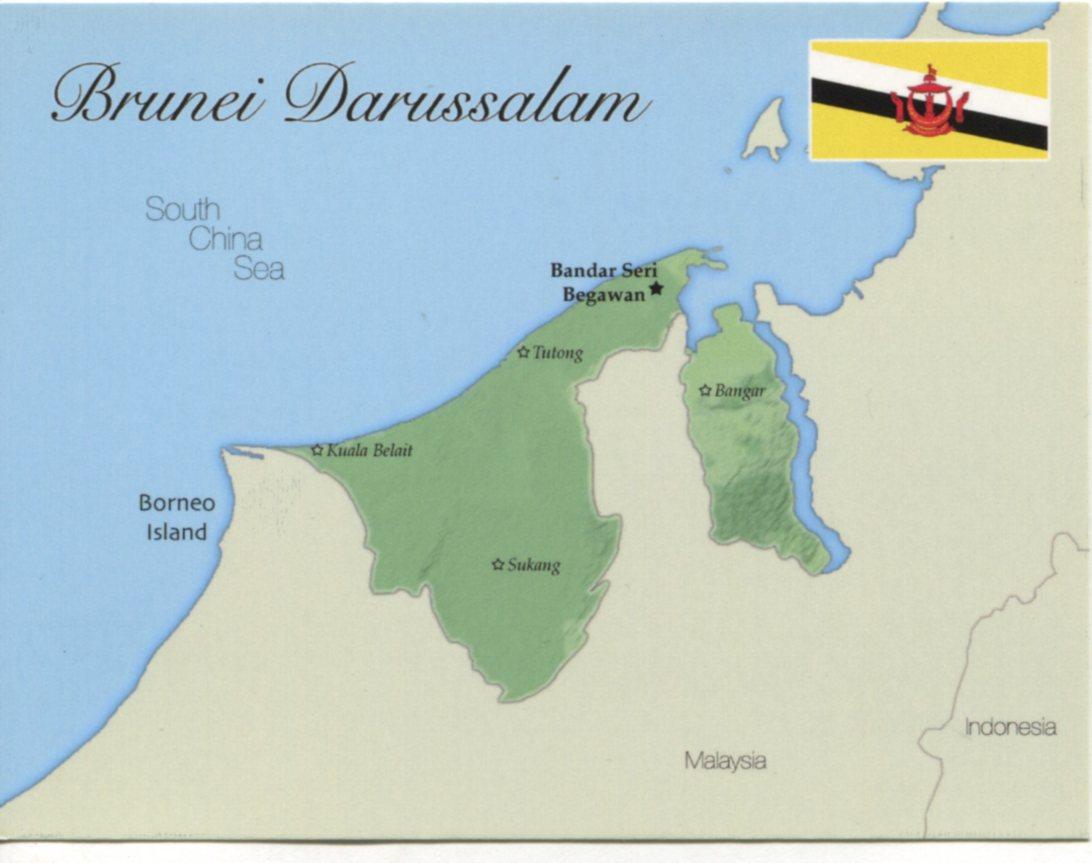 Map of brunei darussalam mapb02 100 postcard interactive map of brunei darussalam gumiabroncs Image collections