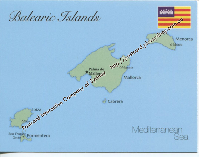 Map of Balearic Islands (Spain)
