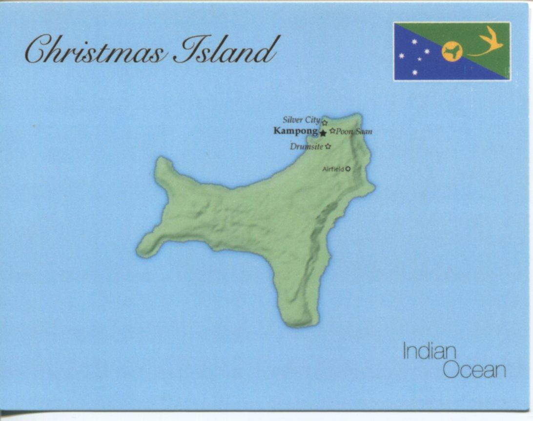 Australia Postcard Interactive – Map of Christmas Island and Australia
