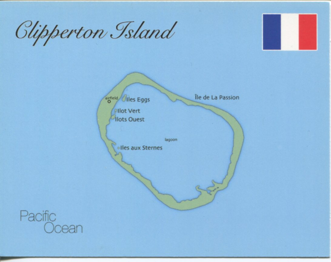 Map of Clipperton Island (France)