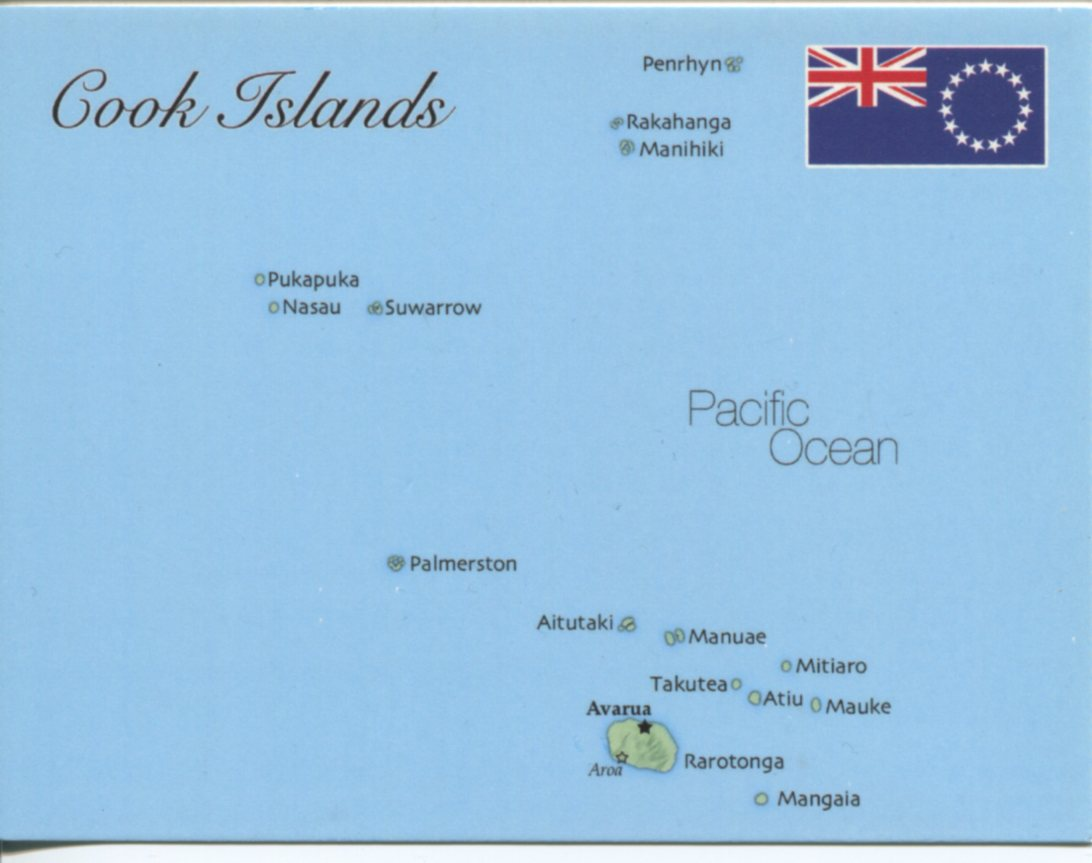 Map of Cook Islands (New Zealand)