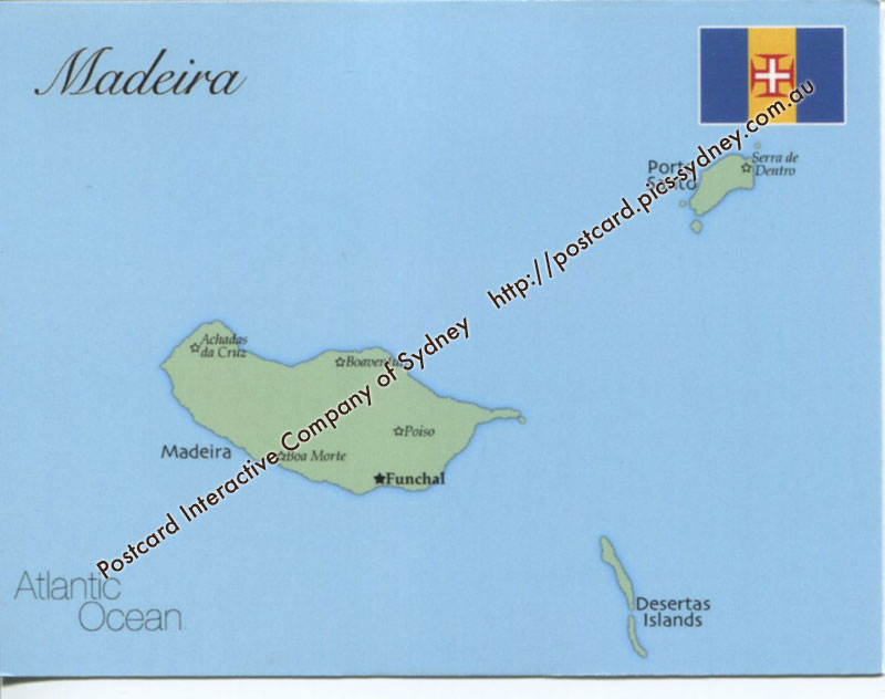 Map of Madeira (Portugal)