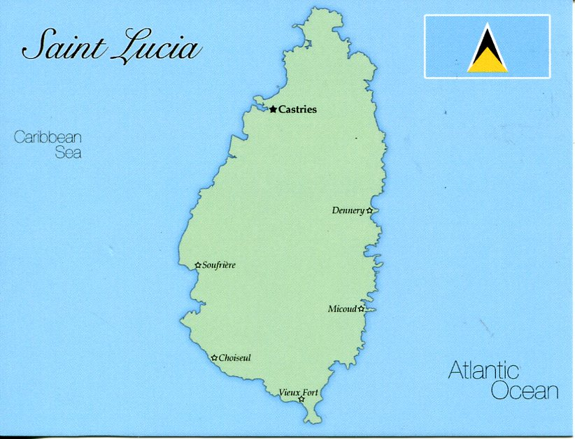 Map of Saint Lucia