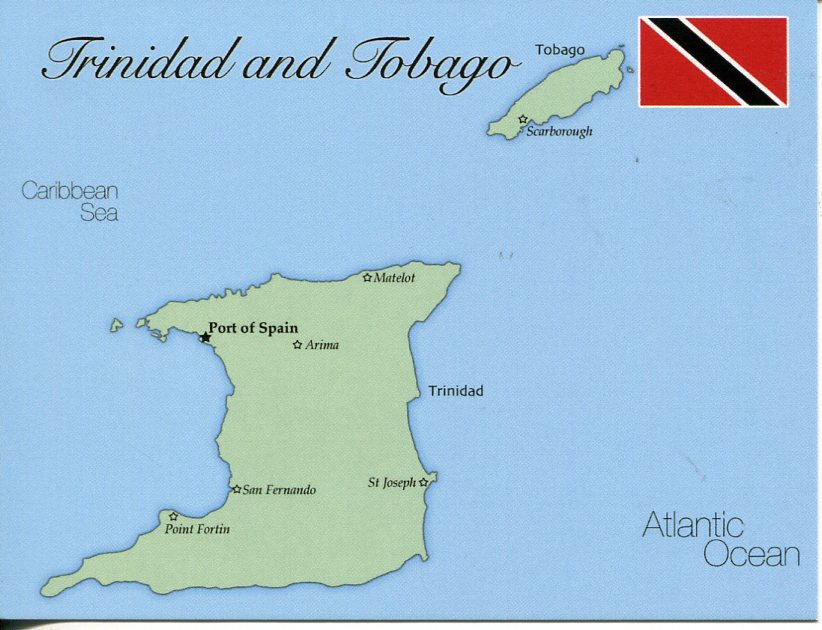 Map of Trinidad and Tobago