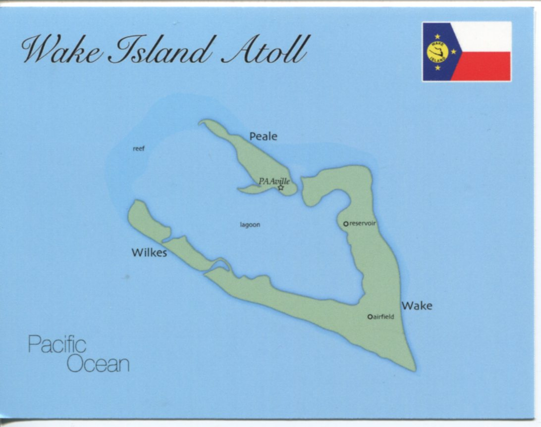 Map of Wake Island Atoll (United States)