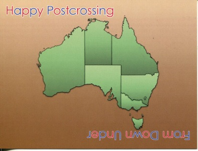 Happy Postcrossing - From Down Under (map)