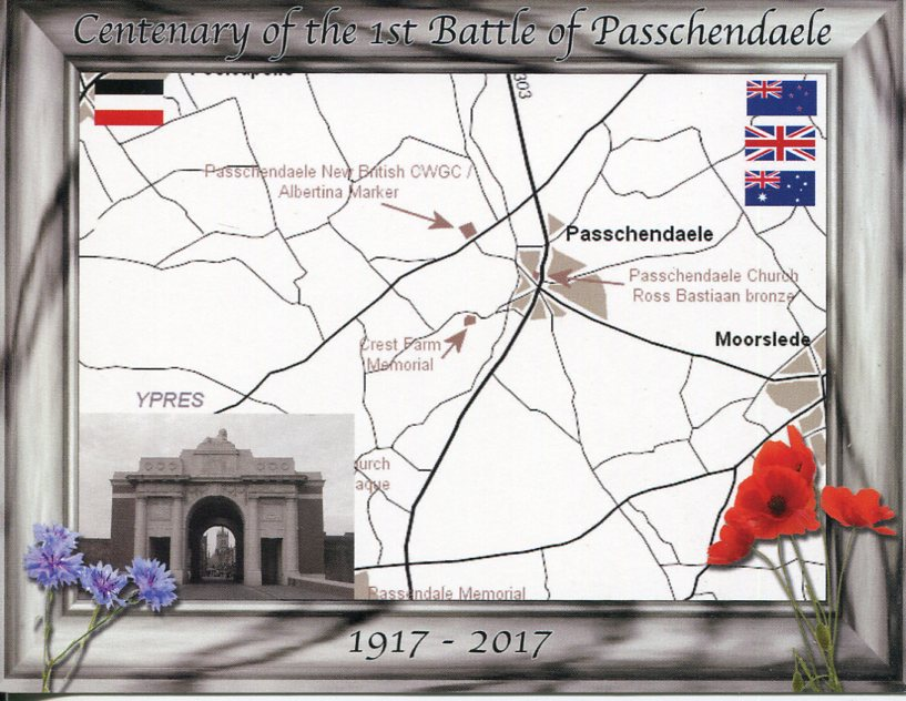 Centenary of the 1st Battle of Passchendaele (Belgium)