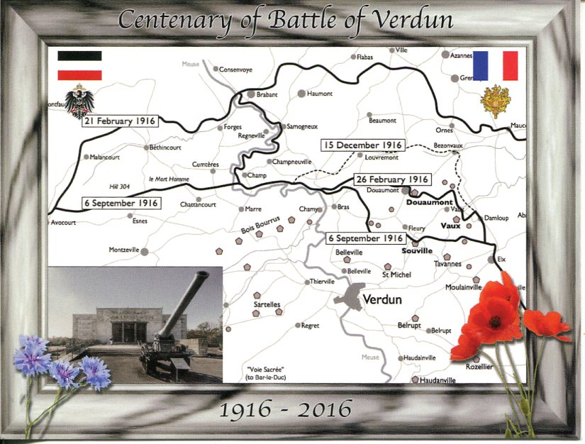 Centenary of Battle of Verdun (WWI) France