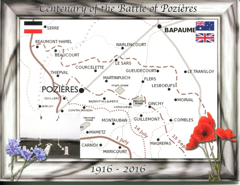 Centenary of Battle of Pozières (France)