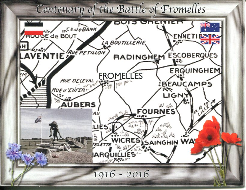 Centenary of Battle of Fromelles (France)