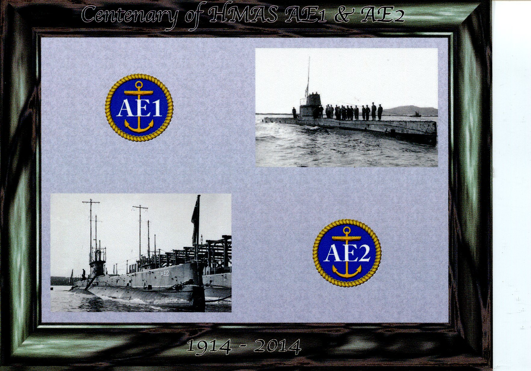Centenary of AE1 and AE2 Australian Submarines