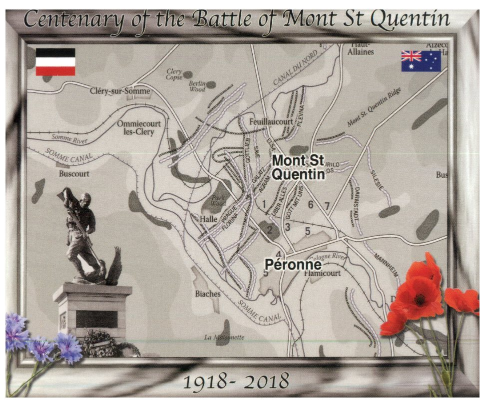 Centenary of the Battle of Mont St Quentin and Péronne