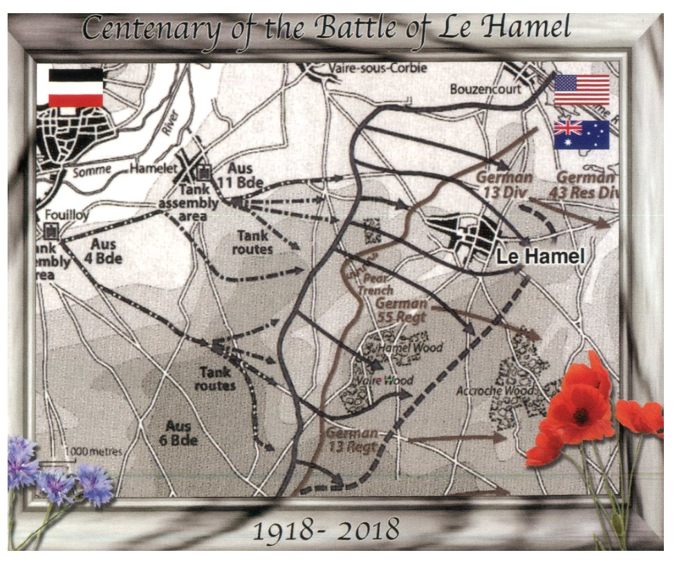 Centenary of the Battle of Le Hamel (France)