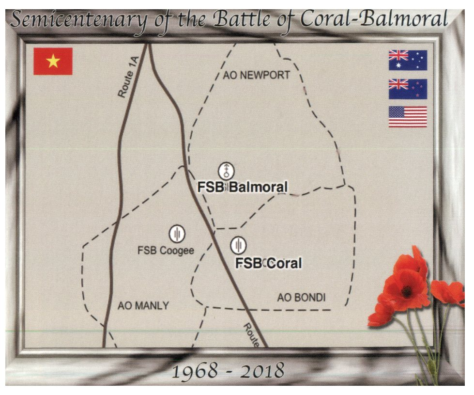 50th anniversary of the Battle of Coral-Balmoral (Vietnam War)