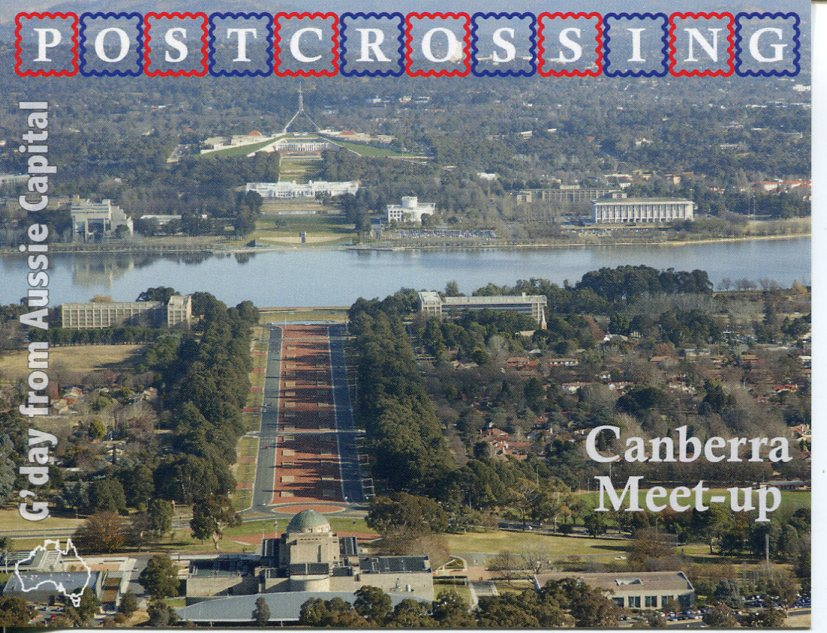 Postcrossing Meet-up (Canberra) postcard