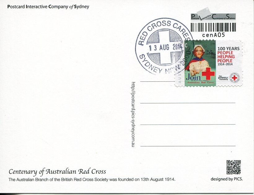Centenary of Australian Red Cross Maxicard