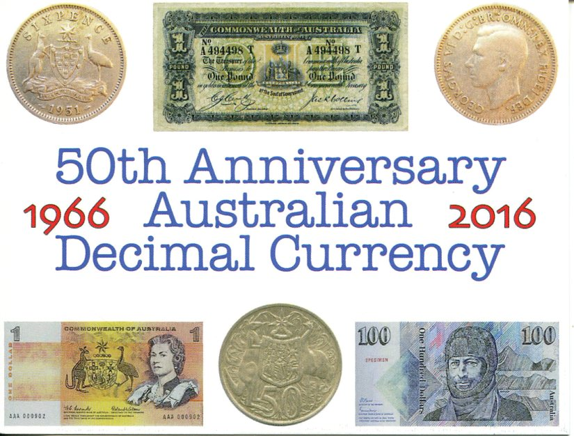 50th Anniversary of Australian Decimal Currency - 1966 / 2016