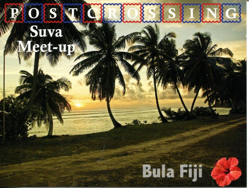 Postcrossing Meet-up (Suva, Fiji) postcard
