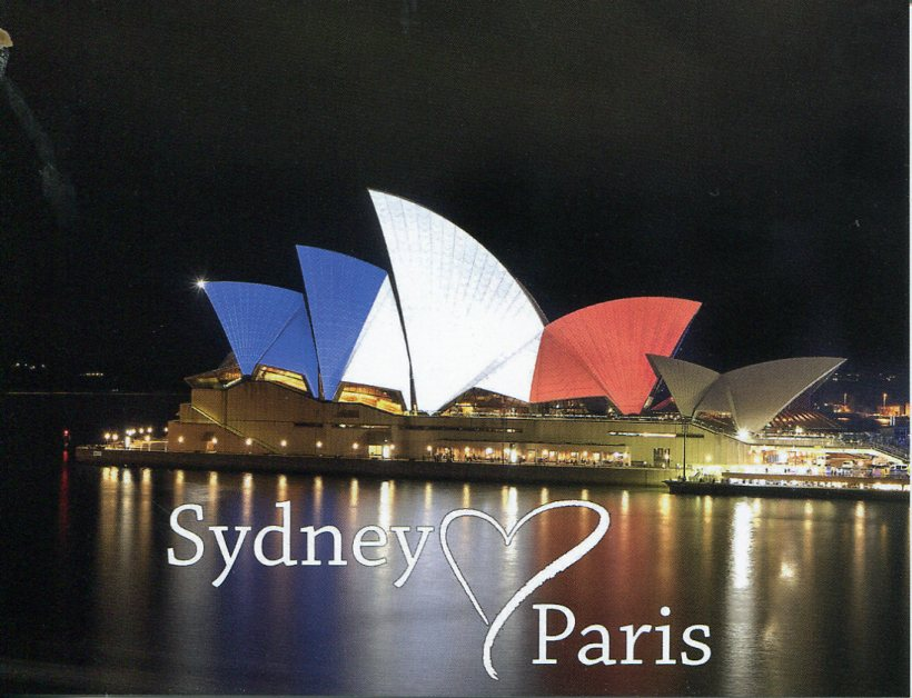 Sydney Love Paris (Opera House in Tricolour Flag of France)