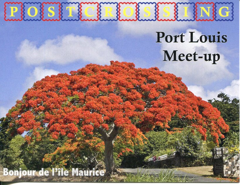 Postcrossing Meet-up (Mauritius) postcard