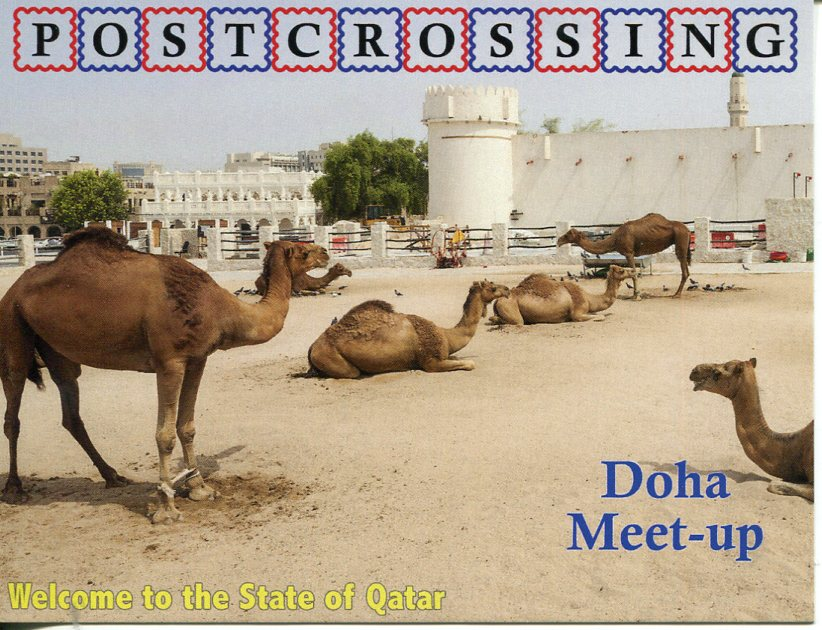 Postcrossing Meet Up Doha (Qatar) postcard