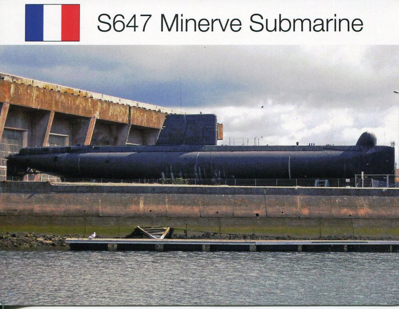 France - Navy Submarine Minerve (lost in 1968)