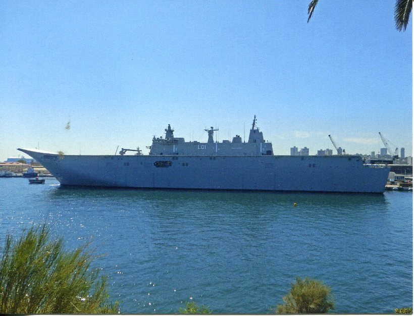A Landingcraft Igned To The Royal Australian Navy Landing Helicopter Dock Ship Hmas Adelaide L01