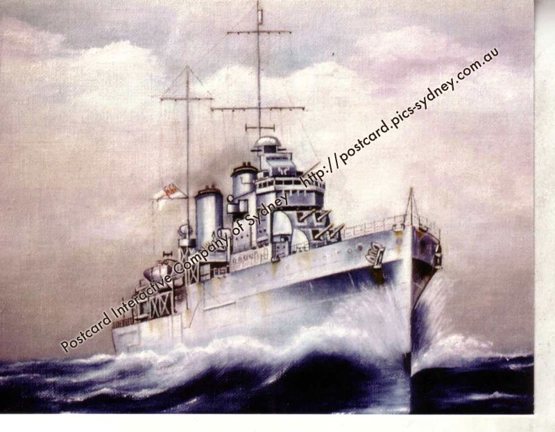 HMAS Sydney II (Light Cruiser) (1st card)