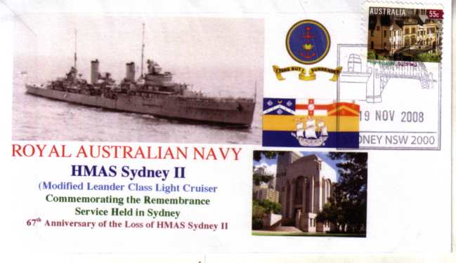 HMAS Sydney II - 19 Nov 2008 - Sydney Harbour Bridge cover